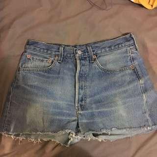 Original Levis Waist 31 Denim Shorts