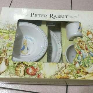 美耐皿兒童餐具組/彼得兔