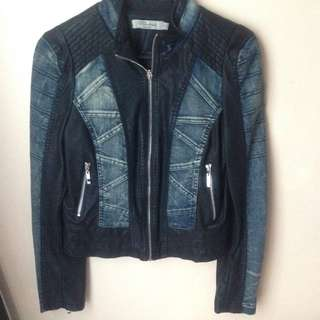 Blockout Black & Denim Jacket
