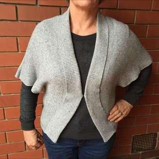 Wool Blend Grey Cardi