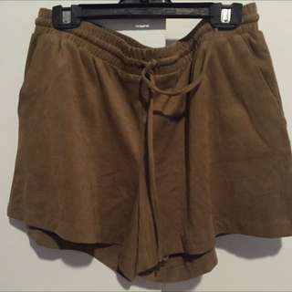 H&M Suede Like Shorts