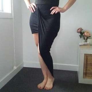 Black Asymmetrical skirt Size 8-10