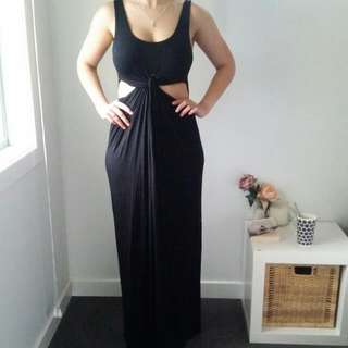 Black Maxi Size 12 With Cutouts