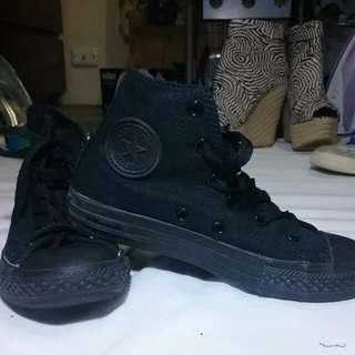 Black High Tops Converse