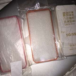 iPhone 5 Clear Case With Colour Side Bumper