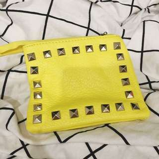 studded change purse