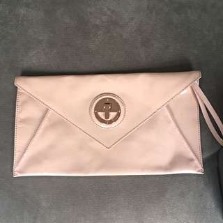 Mimco Molten Envelope Clutch (Dusty Pink) RRP $159