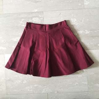 MAROON CIRCLE SKIRT