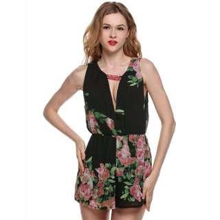 Floral Romper Sexy Jumpsuit