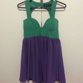 Purple and Green Mink Dress