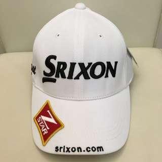 全新Srixon 白色高爾夫球帽 遮陽帽
