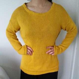 Yellow Dotti Junper Size 12