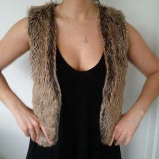 Furry Vest Size Small (8-10)