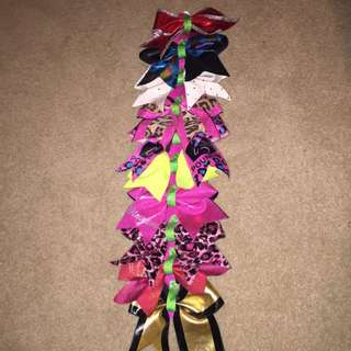 Cheer Bows And Bow Holder