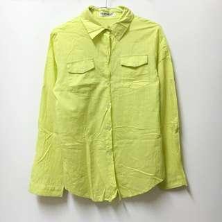 青蘋果黃色襯衫