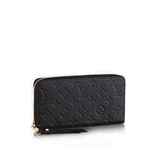 Louis Vuitton Zippy Monogram Empreinte Wallet (Black) LV