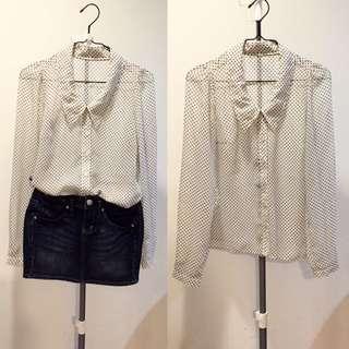 🚚 🇯🇵日本品牌SLY 白色雪紡襯衫
