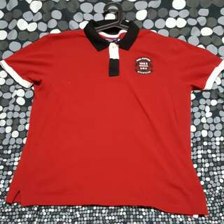 Hush Puppies Red Slim Fit Polo Tee (XL)