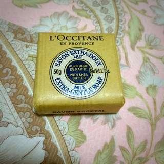 法國 LOCCITANE 歐舒丹 乳油木植物皂 50g 牛奶香皂