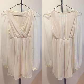 🚚 🇯🇵SLY 白色雪紡洋裝