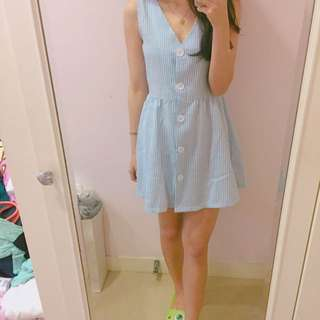 Ops水藍洋裝