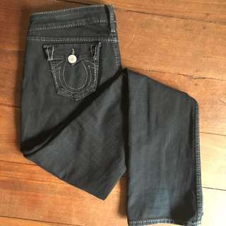 True Religion Black Bootleg Jeans