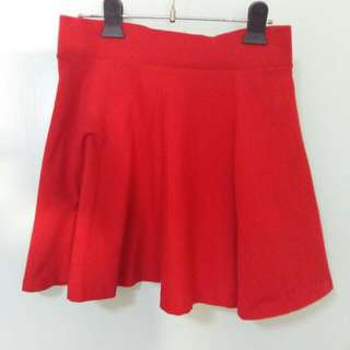 H&M Red Skirt (waist stretchable)
