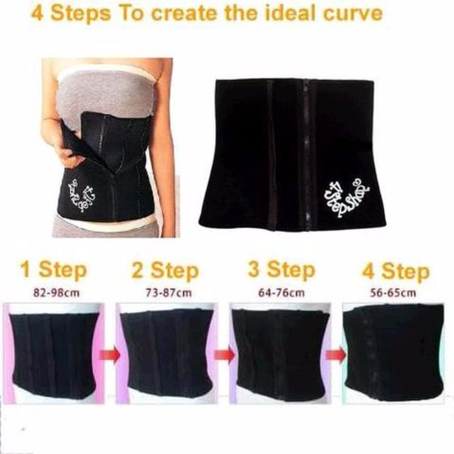 4 STEP / 4STEP SHAPE ~ SLIMMING BELT ~ KORSET PAKAIAN PELANGSING ORIGINAL