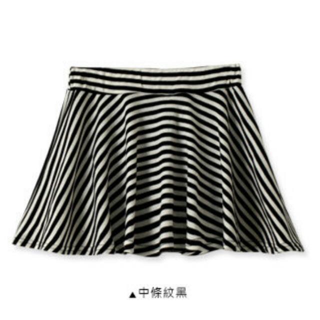 橫條棉質褲裙