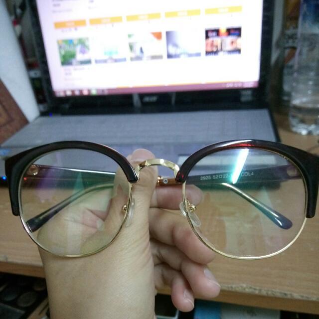 全新半框復古眼鏡