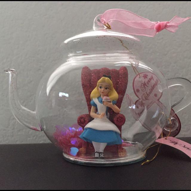 愛麗絲夢遊仙境 茶壺吊飾 Alice Disney 迪士尼