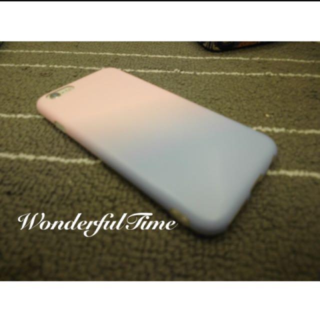(現貨)無字款玫瑰石英粉藍寧靜粉藍漸層 手機殼 軟殼iphone6/6s/plus VDL+PANTONE
