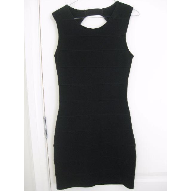 BLACK BANDAGE MINI DRESS SIZE 8