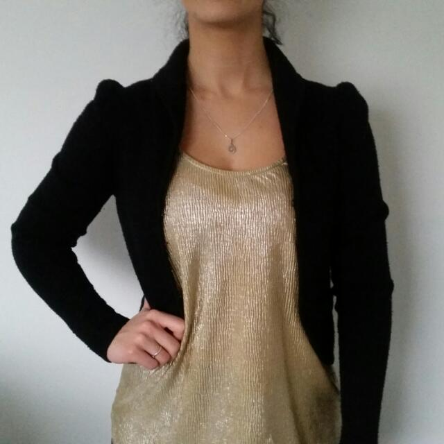 Black Cardigan Size 10