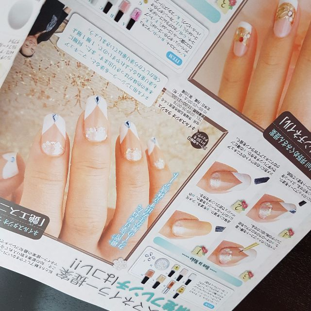 Nail Art Magazines Free Images - nail art design simple step by step