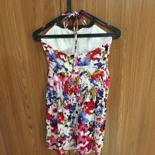 Forever 21 Halter Neck Floral Dress