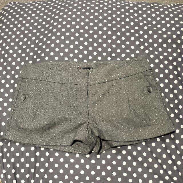 Grey Sparkle Short shorts 10