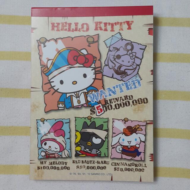 日本購回Kitty筆記本