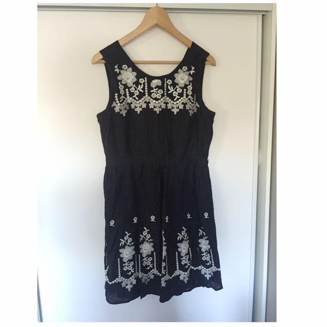 Laura Ashley Light Monochrome Dress
