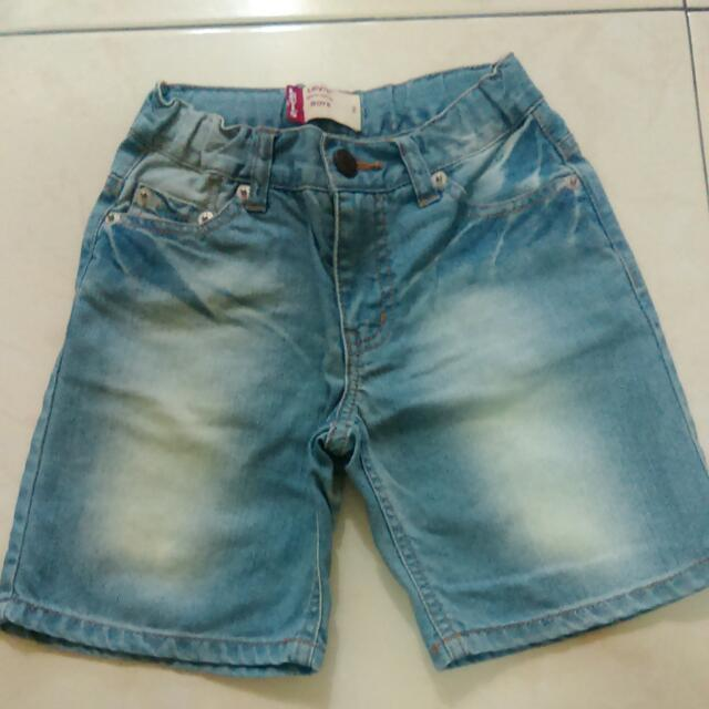 LEVI'S男童牛仔短褲