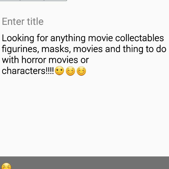 Looking For Horror Movie/character Collectables