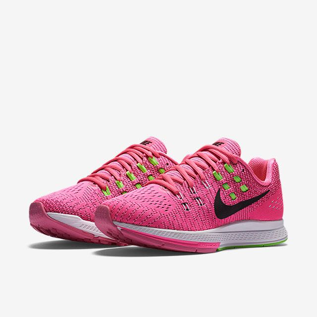 new style b6a28 3b3ce Nike Air Zoom Structure 19 (Women) - Pink Blast Electric Green White Black,  Women s Fashion on Carousell