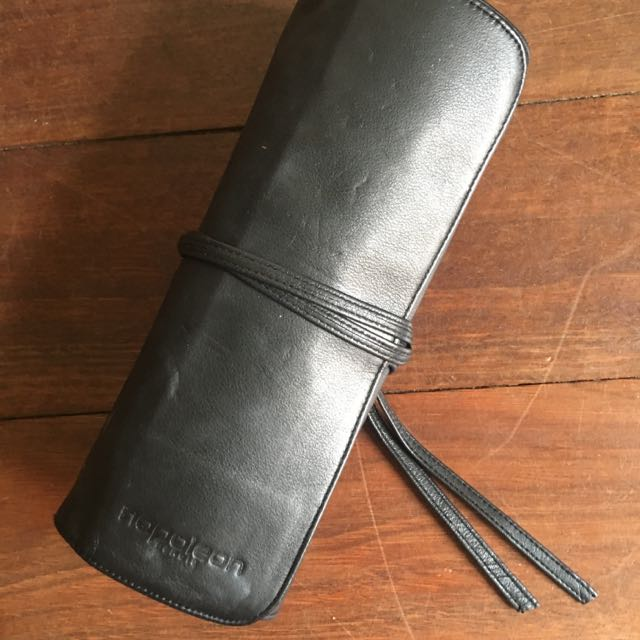 Nopoleon Leather Make Up Brush Roll