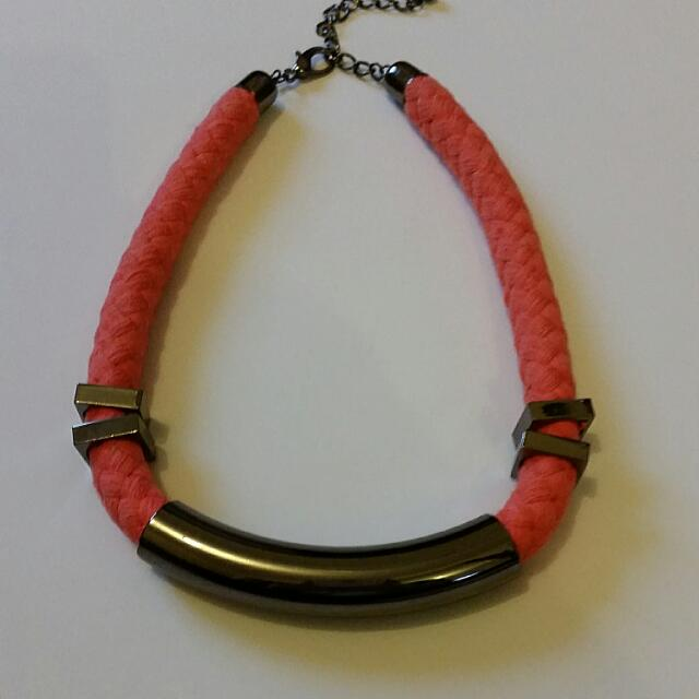 Orange Sportgirls Statement Necklace