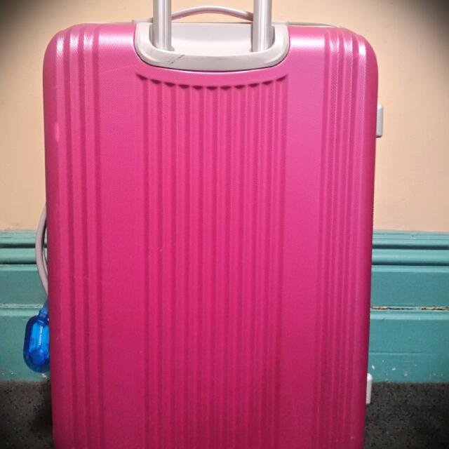 (Pending) Pink And Grey CalPak Hardside Spinner Suitcase