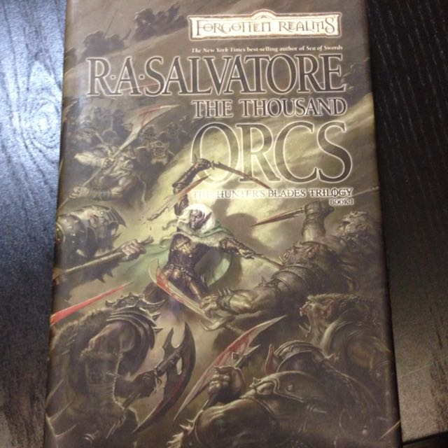 R A  Salvatore Forgotten Realms Book 'the Thousand Orcs'