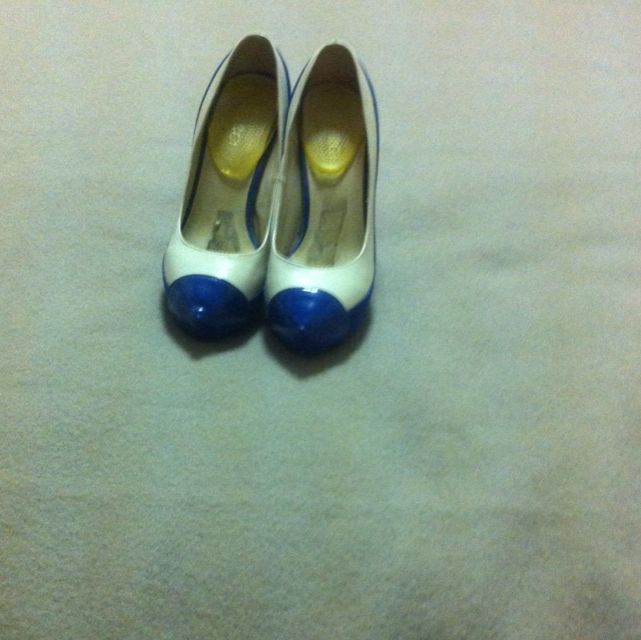 Royal Blue And White Heels