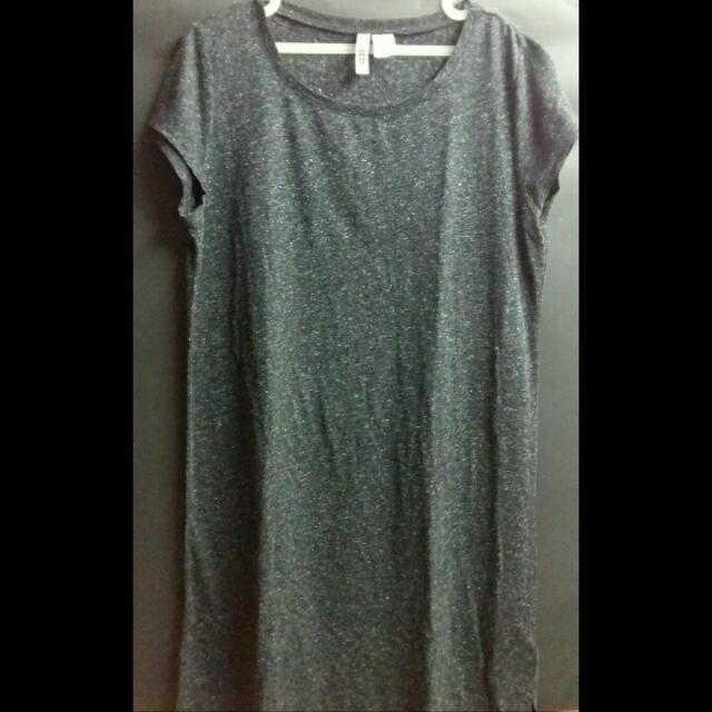 DIVIDED-SIMPLE DRESS GREY