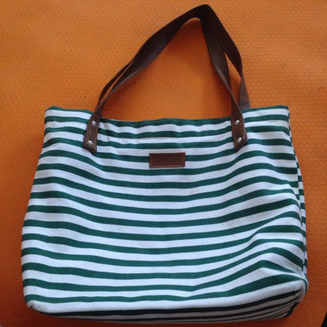 Stripe Green Bag