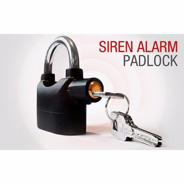 The Clever Alarm Padlock. Scaring Away Thieves & Protecting Your Valuables!